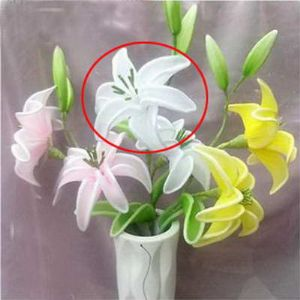 Mesh Nylon flower making kit, Yellow, Light pink, 6 flowers, 13cm (diameter of flowers), White lily, (xs033)